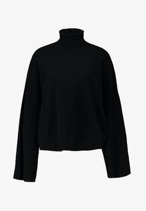 NMSHIP ROLL NECK - Strickpullover - black