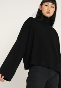 Noisy May - NMSHIP ROLL NECK - Sweter - black - 3