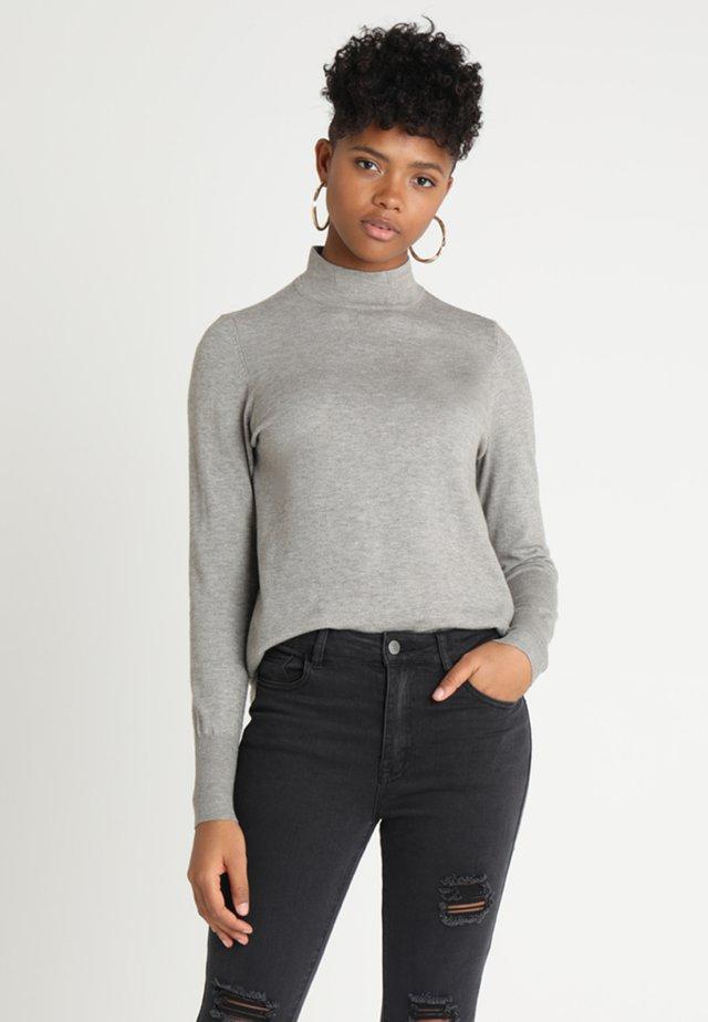 NMGINA - Strickpullover - medium grey melange