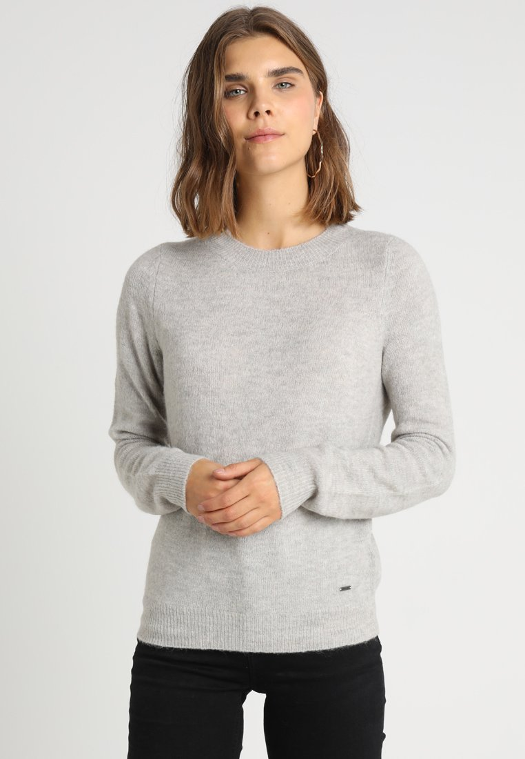 Noisy May - NMHELLEN - Strickpullover - light grey melange