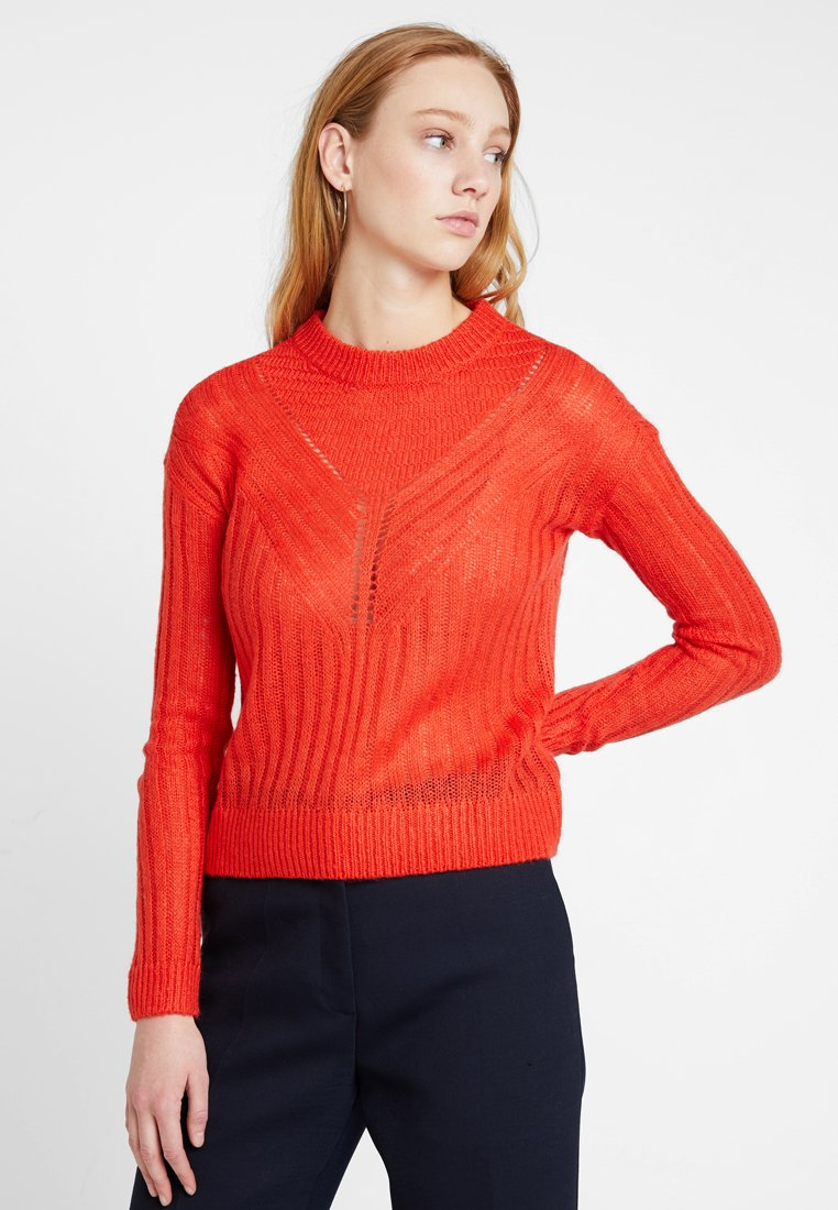 Noisy May - NMGABBY O NECK KNIT - Jumper - fiery red