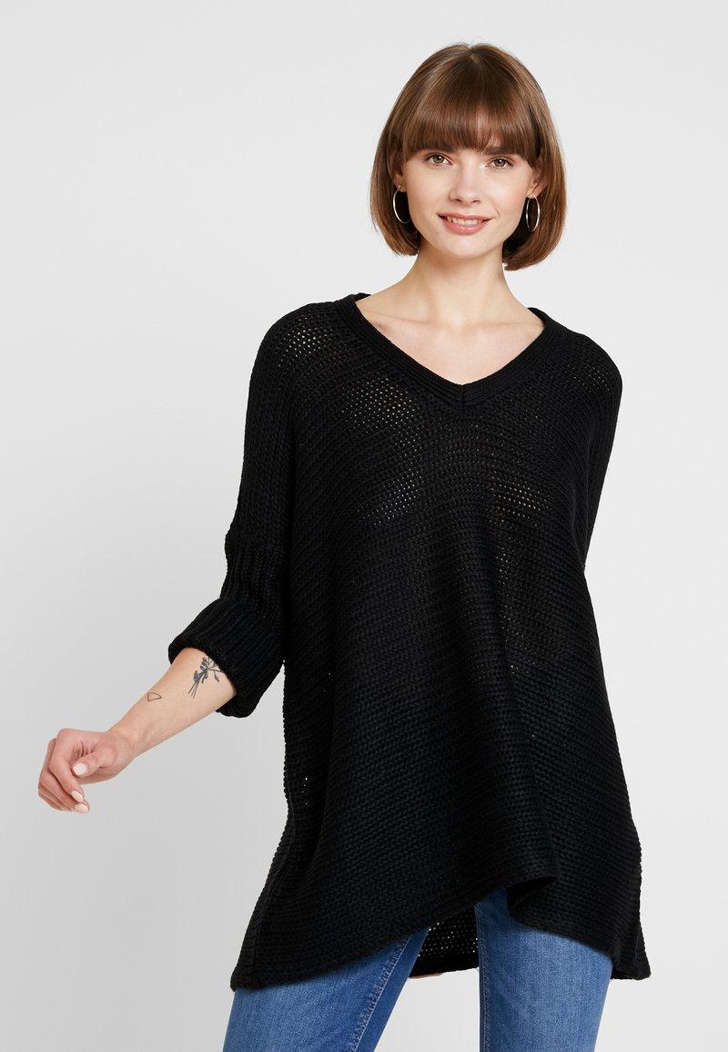 Noisy May - NMVERA V NECK - Jersey de punto - black