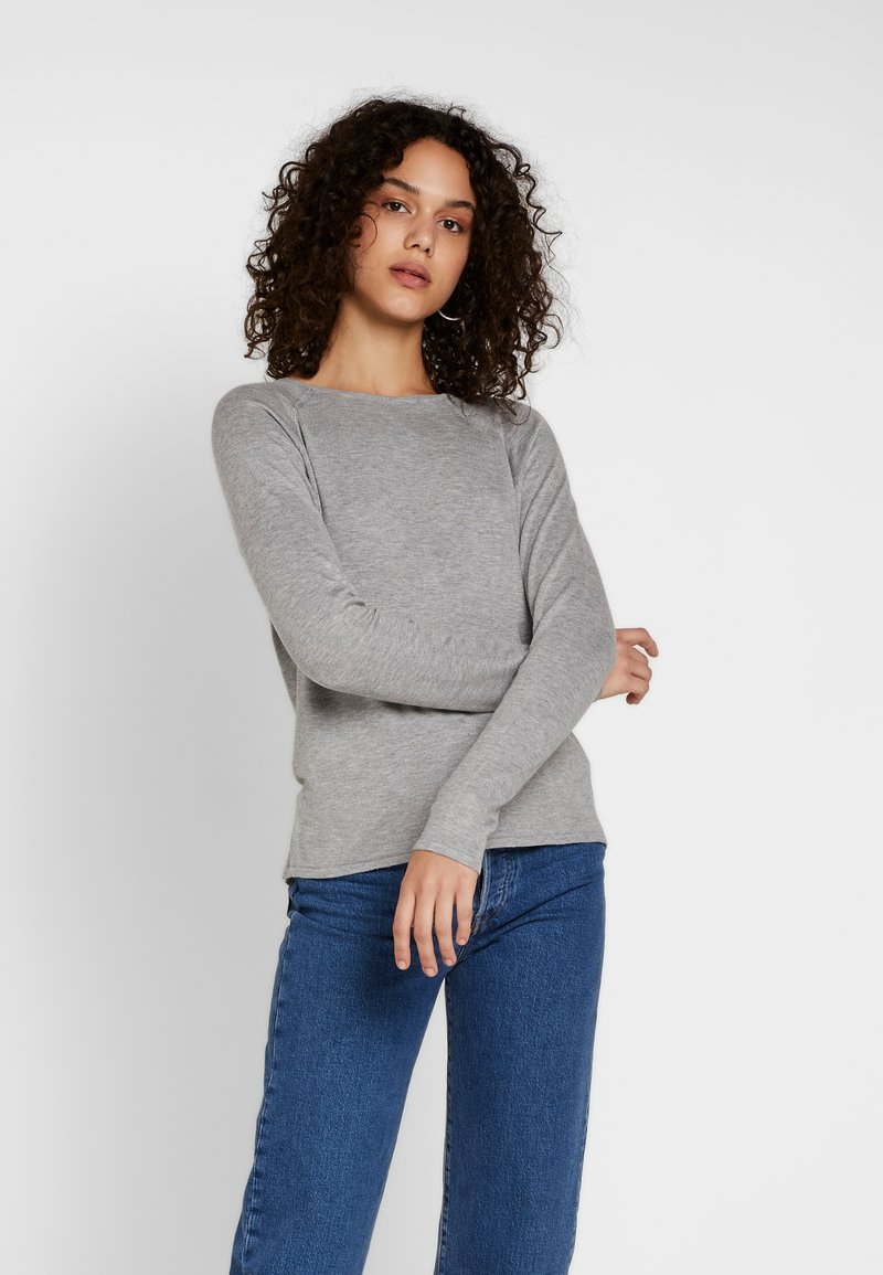 Noisy May - NMOWEN O-NECK - Jumper - medium grey melange