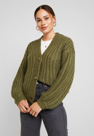 Strickjacke - olivine