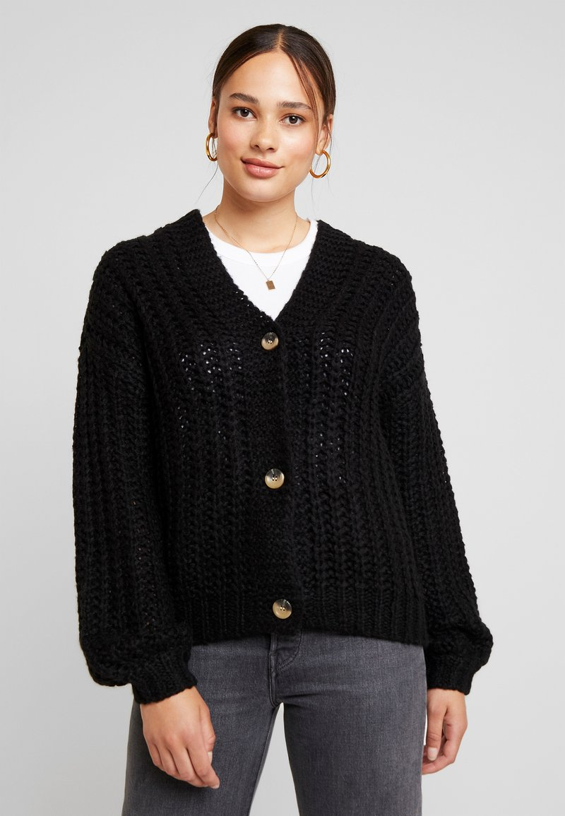 Noisy May - NMSTEVE CARDIGAN - Gilet - black