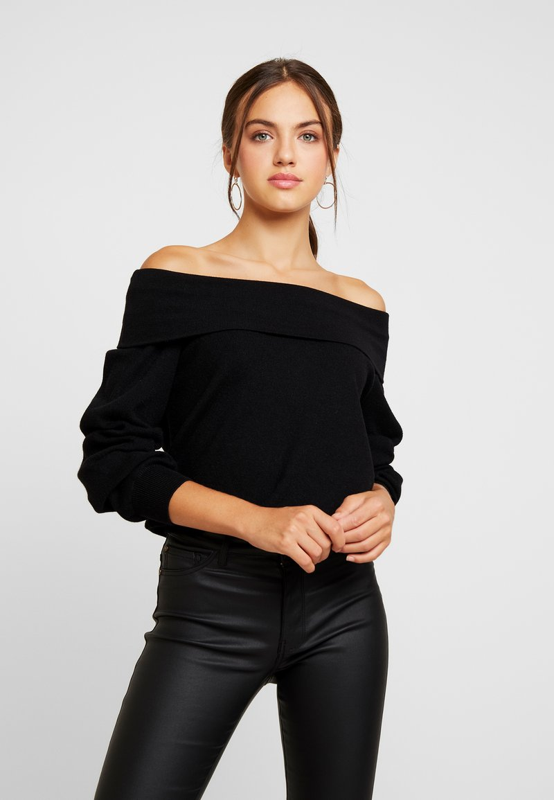 Noisy May - NMSHIP OFF SHOULDER - Strickpullover - black