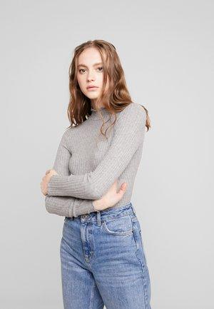 NMBERRY HIGH NECK - Jersey de punto - medium grey melange