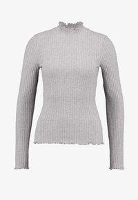 Noisy May - NMBERRY HIGH NECK - Jersey de punto - medium grey melange - 3