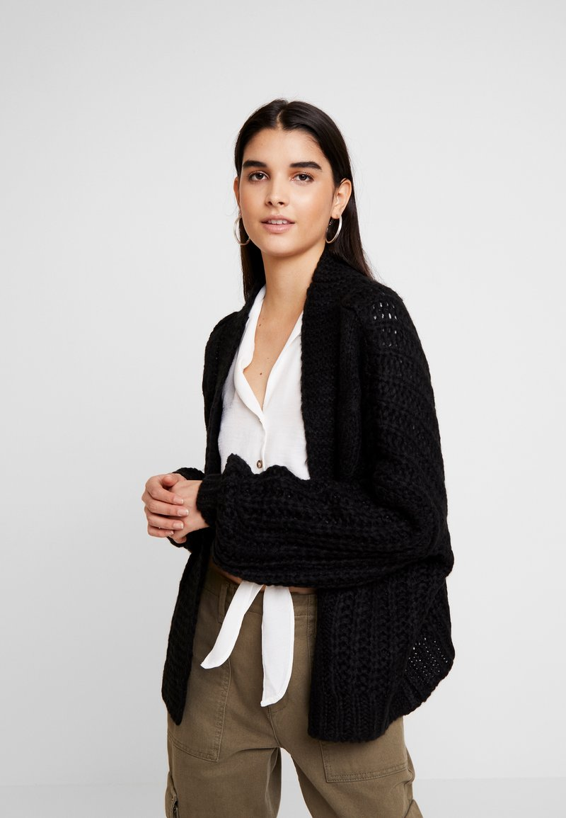 Noisy May - NMTENDARI CARDIGAN - Strickjacke - black