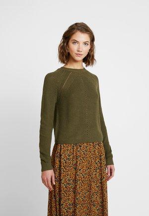 Strickpullover - ivy green
