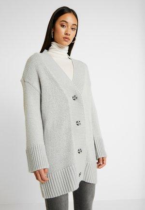 NMDEREK LOOSE CARDIGAN - Vest - light grey melange