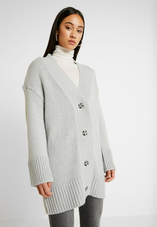 NMDEREK LOOSE CARDIGAN - Cardigan - light grey melange