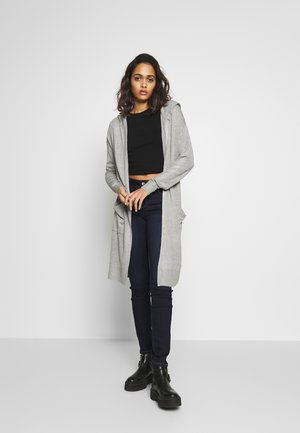 NMOWEN LONG CARDIGAN - Gilet - light grey melange