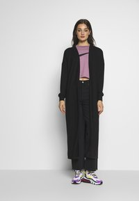 Noisy May - NMTESS LONG CARDIGAN - Cardigan - black - 0