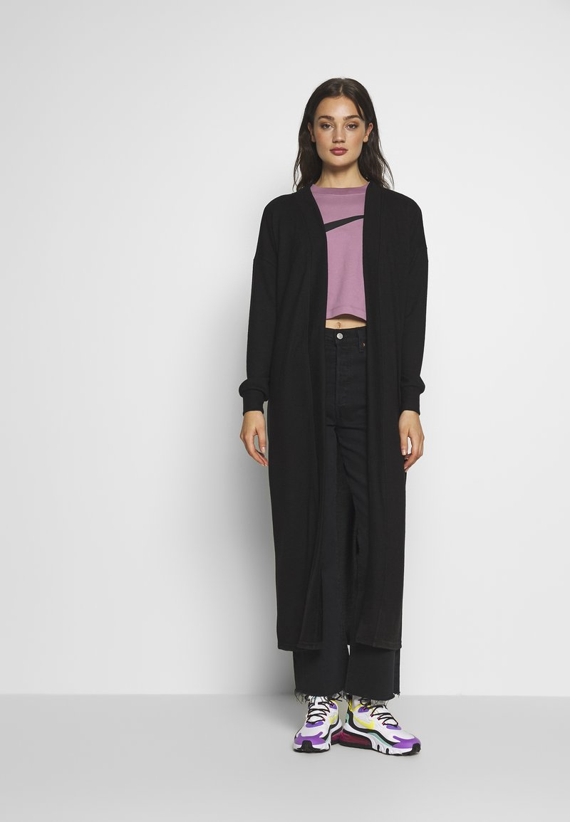 Noisy May - NMTESS LONG CARDIGAN - Cardigan - black