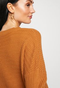 Noisy May - NMMETTE 3/4 V-NECK  - Jumper - brown sugar - 5