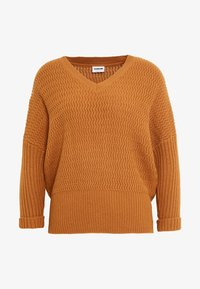Noisy May - NMMETTE 3/4 V-NECK  - Jumper - brown sugar - 4