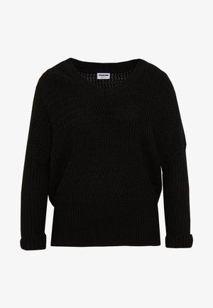 NMMETTE 3/4 V-NECK  - Sweter - black
