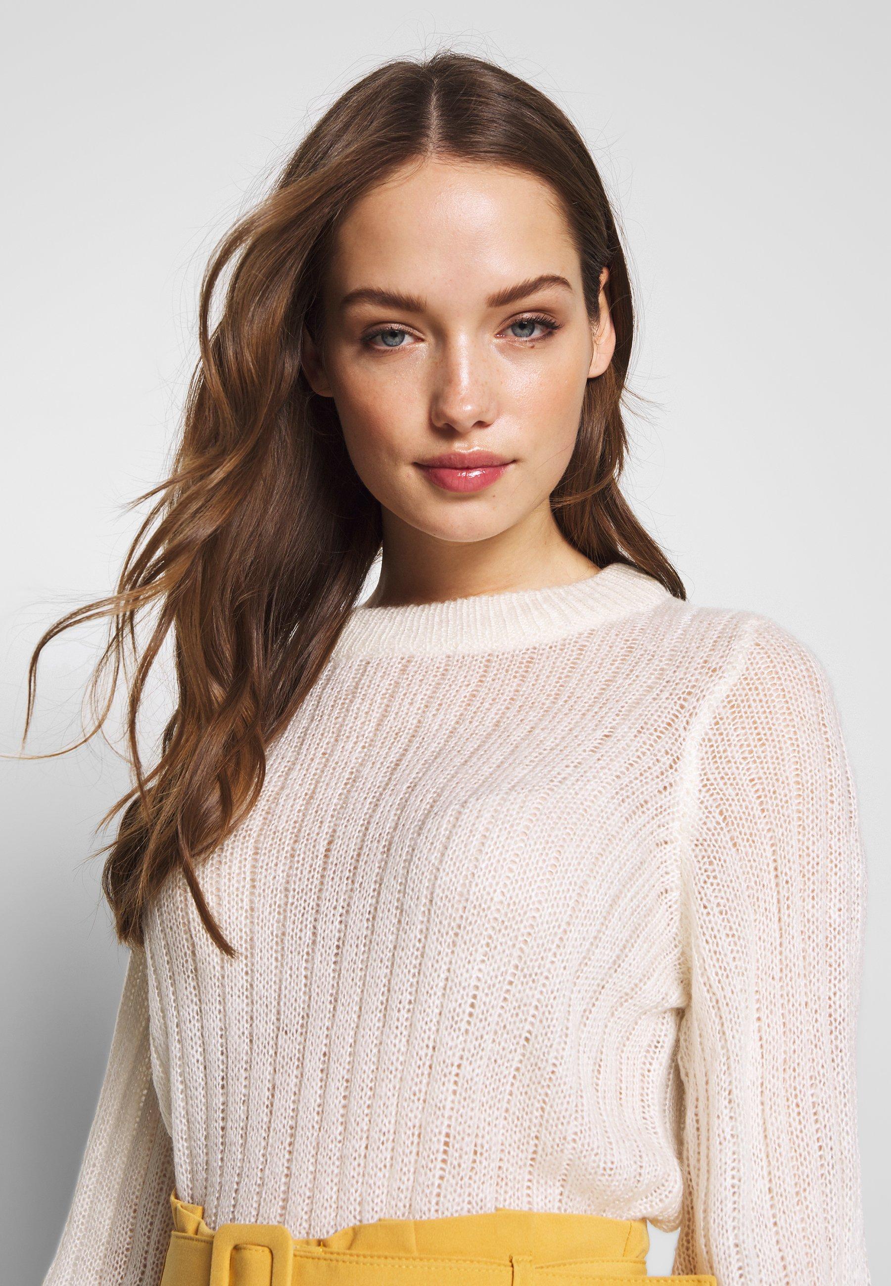 Noisy May NMSABBY O-NECK - Sweter - sugar swizzle