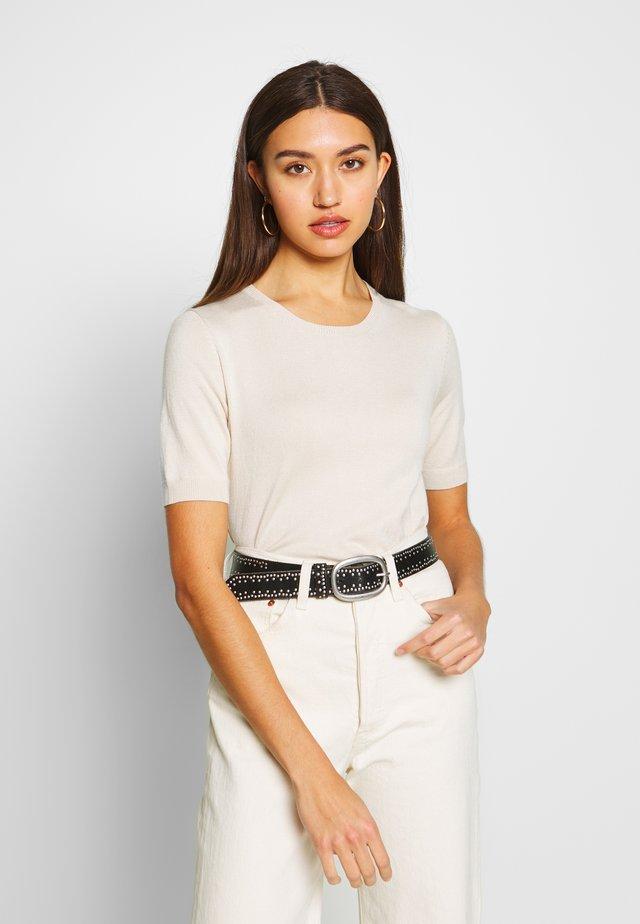 NMJOSIE O-NECK - T-shirt basic - oatmeal