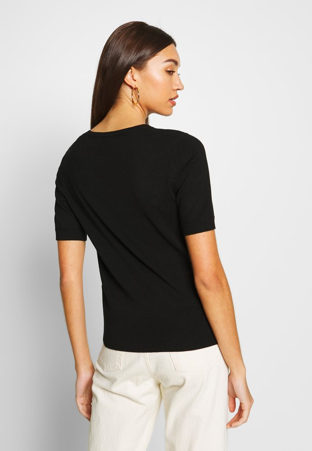 NMJOSIE O-NECK - T-shirt basic - black