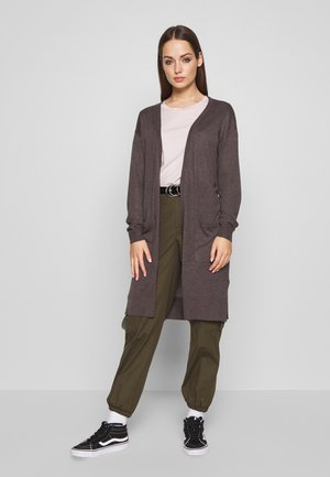 NMBECCA LONG  - Cardigan - medium grey melange
