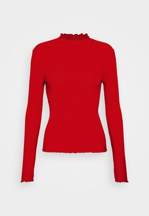 NMBERRY HIGH NECK  - Strikkegenser - haute red