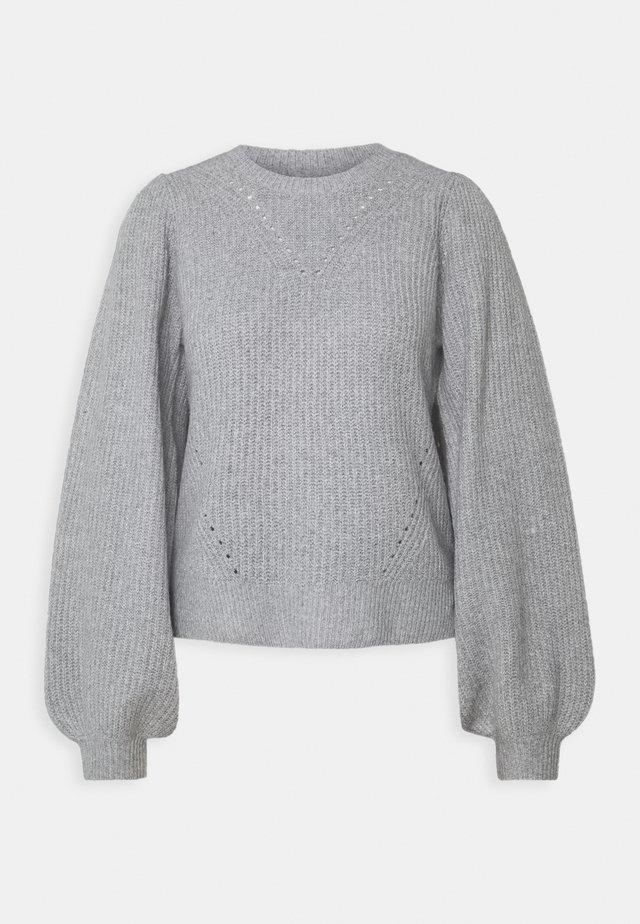 NMLUKE O-NECK  - Strikkegenser - light grey