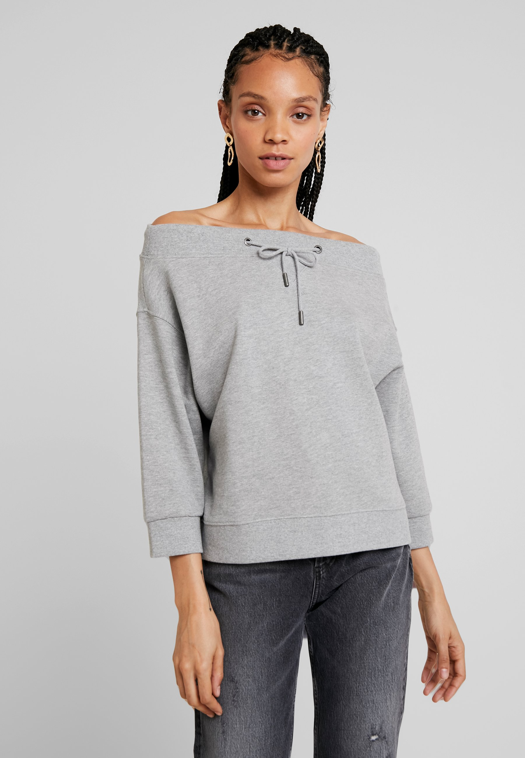 Noisy Melange May Light OneshoulderSweatshirt Grey Nmlife WE92IDH