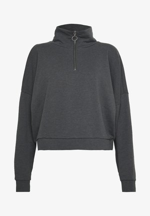 NMHALLY ZIP - Sweatshirt - dark grey melange