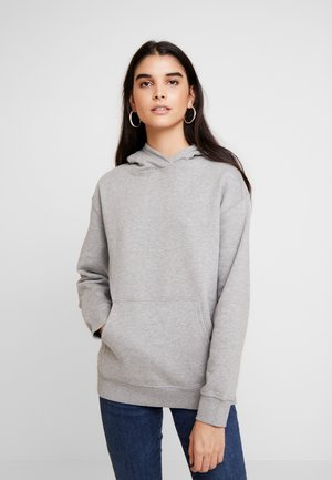 Bluza z kapturem - light grey melange