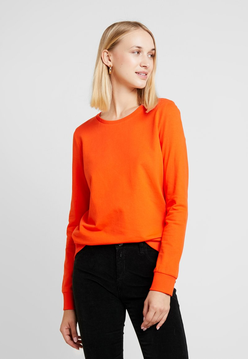 Noisy May - NMPANA SOLID - Sweatshirt - tangerine tango