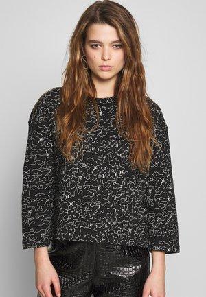 NMLOLA - Sweater - black/ecru