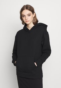 Noisy May - NMLEYA WOMENSDAY  - Hoodie - black/womensday w. knockout pink - 0