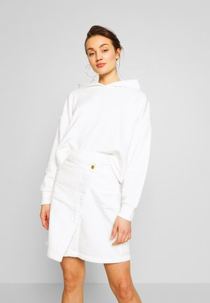 NMERIN CROPPED HOODIE  - Mikina skapucí - bright white