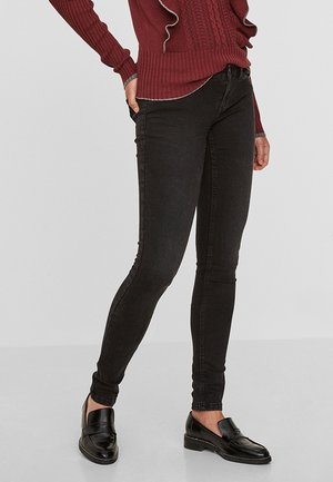 NMEVE POCKET PIPING - Jeansy Skinny Fit - black