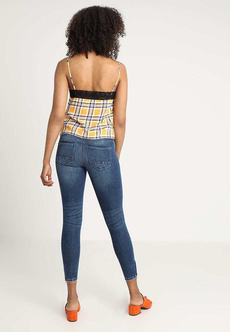 Noisy May NMKIMMY ANKLE ZIP - Jeans Skinny Fit medium blue denim
