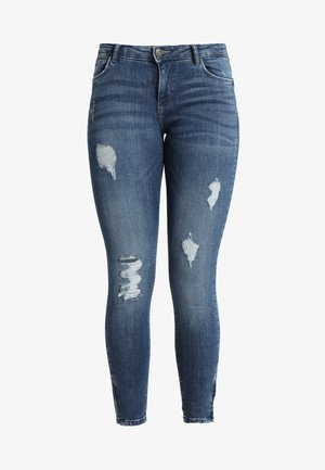 NMKIMMY ANKLE ZIP - Jeans Skinny Fit - medium blue denim