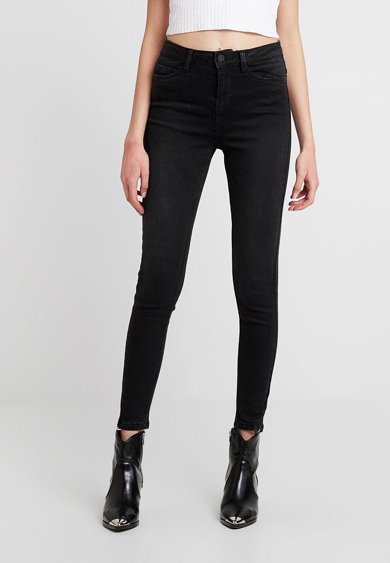 Noisy May - NMLEXI ANKZIP - Jeans Skinny Fit - black