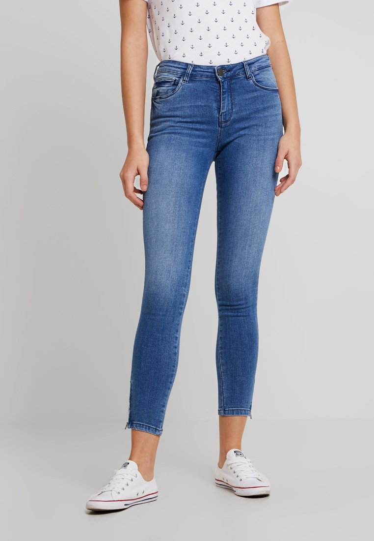 Noisy May - NMKIMMY ANKLE ZIP - Jeans Skinny - light blue denim