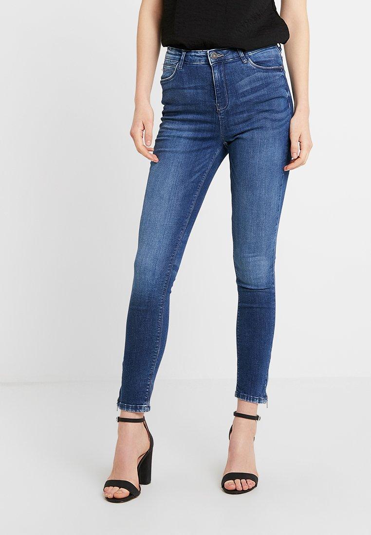 Noisy May - NMLOLLY ANKLE ZIP - Jeans Skinny Fit - medium blue denim