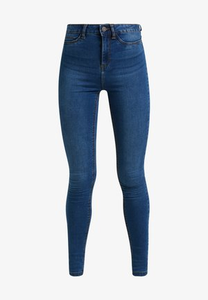 Skinny-Farkut - medium blue denim