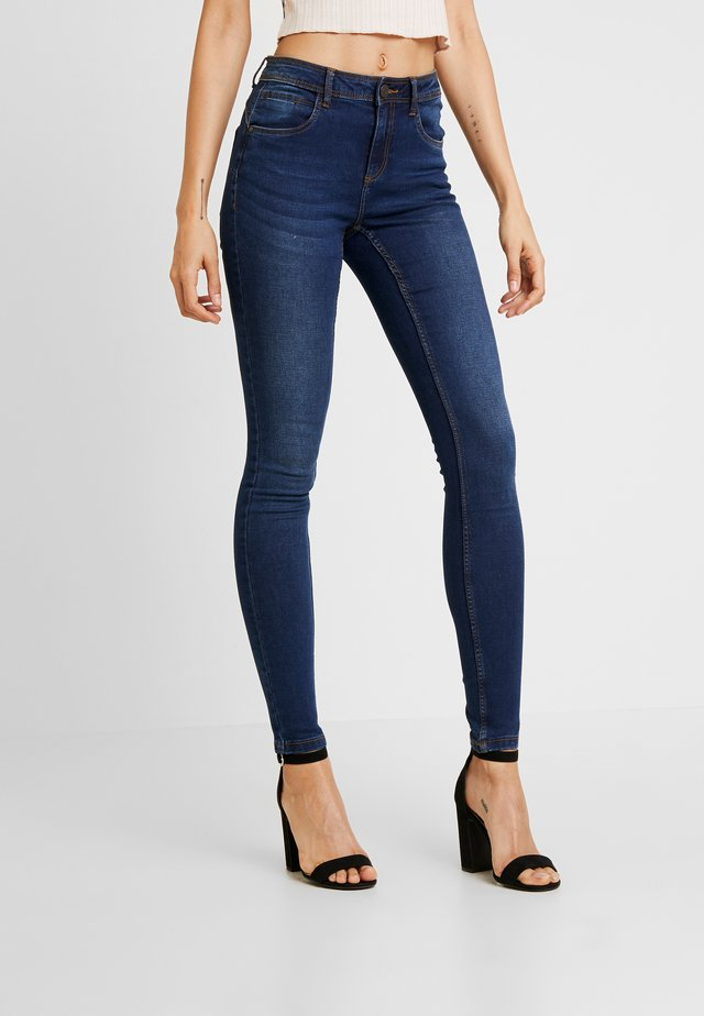 NMJEN SHAPER - Jeansy Skinny Fit - dark blue denim