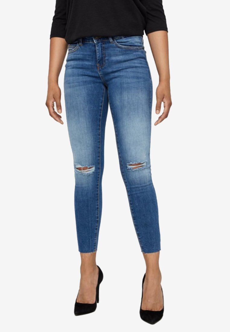 Noisy May Jeans Skinny Fit medium blue denim