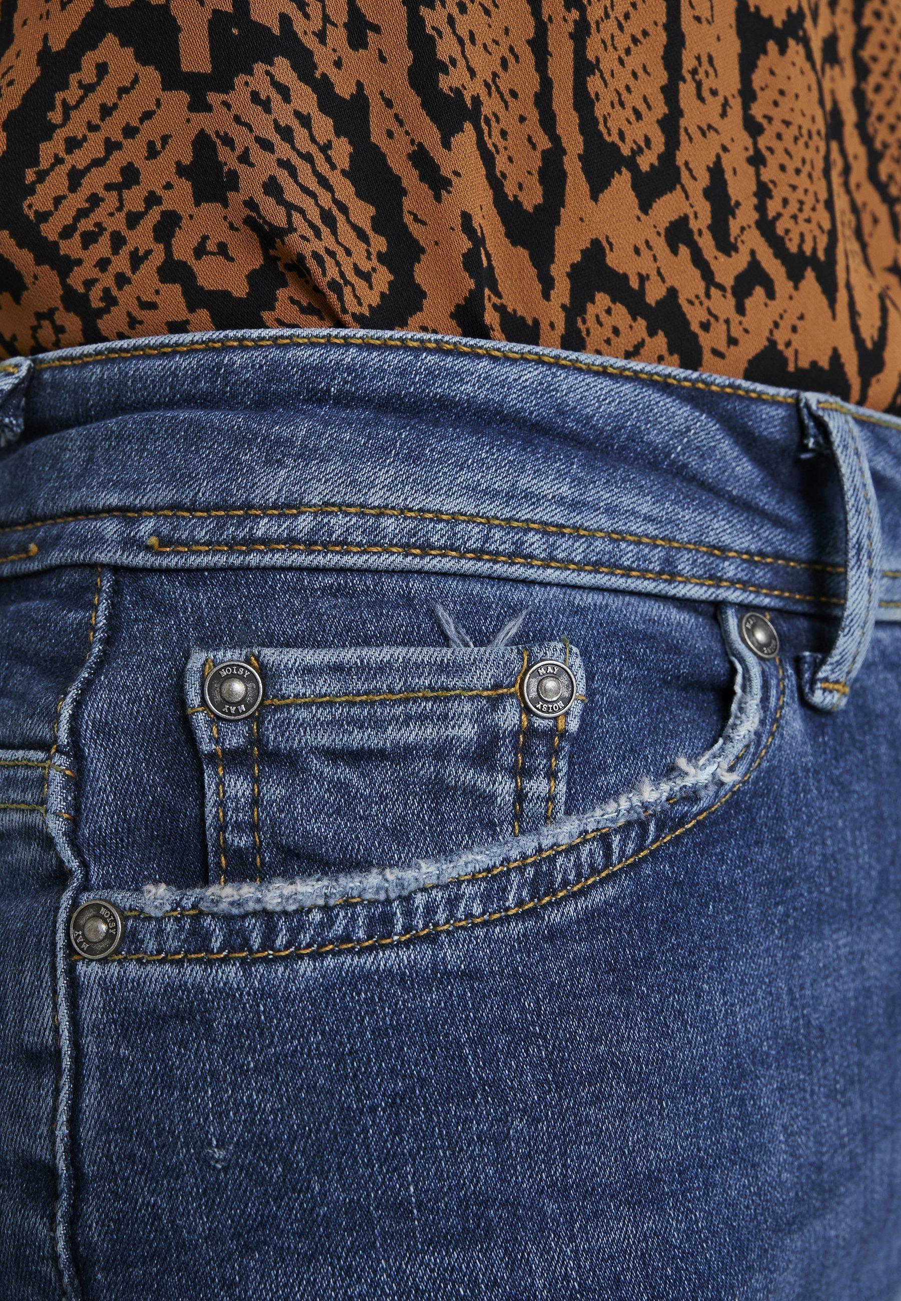 Noisy May Jeansy Skinny Fit - dark blue denim