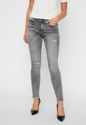 NMLUCY - Skinny džíny - light grey denim