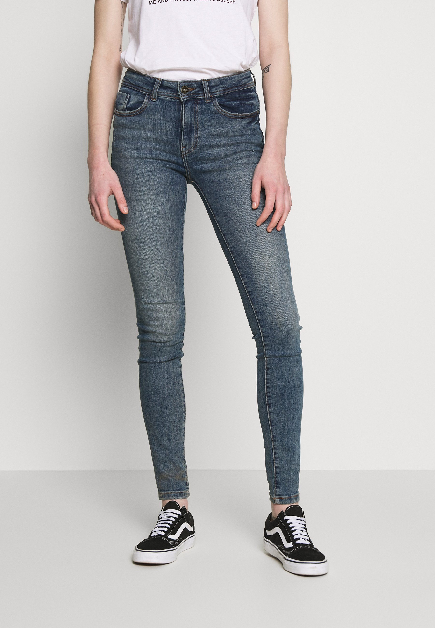 Noisy May VICKY VINTAGE  - Jeansy Skinny Fit - medium blue denim