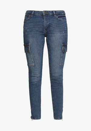 NMKIMMY POCKET - Jeans Skinny Fit - medium blue denim