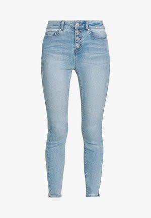 NMCALLIE ANKLE  - Jeansy Skinny Fit - light blue denim