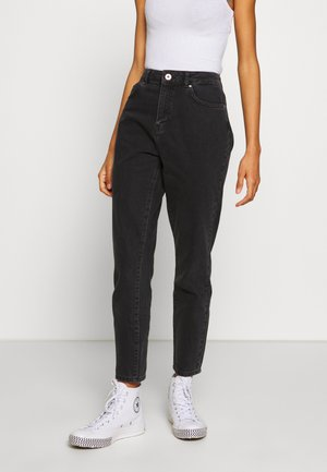 NMISABEL ANKLE MOM - Jeans relaxed fit - black denim